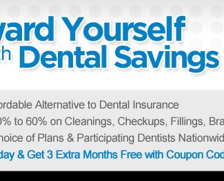 Save on Cleanings, Checkups, Fillings, Braces & More
