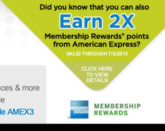 Earn 2X Membership Rewards® Points!